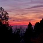 山頂から見る秋の夕暮